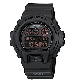 G-Shock Men's Classic Digital Watch with Black Matte Resin Band and Black Dial with Reverse LCD