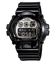 G-Shock Mirror Metallic Digital with Black Metallic Gloss Resin Band and Silver Mirror Dial