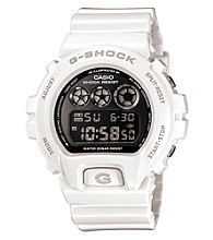 G-Shock Mirror Metallic Digital with White Gloss Resin Band and Silver Mirror Dial