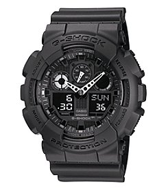 G-Shock Men's Black XL Analog-Digital Watch with Matte Resin Band