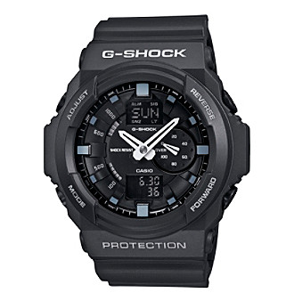 G-Shock Extra Large Ana-Digi with Matte Black Resin Band and Black 3D Design Dial