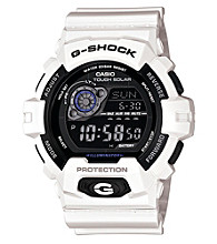 G-Shock Large Case Digital Solar Powered with White Gloss Resin Band and Black Bezel and Dial