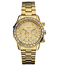 Guess Gold Dazzling Sport Chronograph Watch