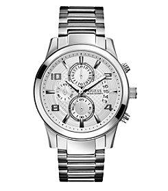 GUESS Silver Masculine Retro Dress Chronograph Watch