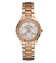 Guess Rose Gold Sparkling Hi-Energy Mid-Size Watch
