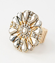 Erica Lyons® Two Tone Stretch Ring