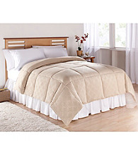 LivingQuarters Embossed Geo Circles Microfiber Down-Alternative Comforter