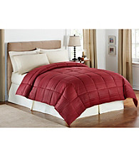LivingQuarters Embossed Striped Microfiber Down-Alternative Comforter