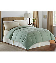 LivingQuarters Embossed Leaves Microfiber Down-Alternative Comforter