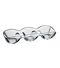 Ego Danieli Glass 3-part Relish Serving Plate
