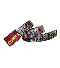 Marvel® Men's Comic Belt with Plaque Buckle