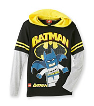 Batman® Boys' 8-20 Black LEGO Batman Hooded Tee