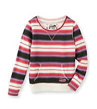 Mambo® Girls' 7-16 Supersoft Striped Pullover Top