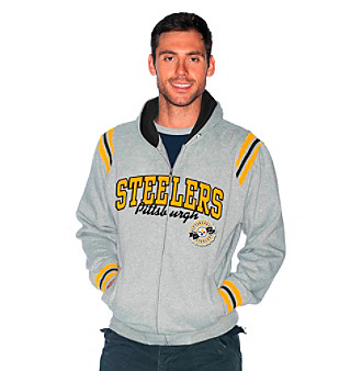 G III Men's Black Pittsburg Steelers Knockout Hoodie