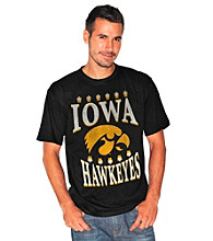 G-III Men's Black Iowa Exploded Logo Tee