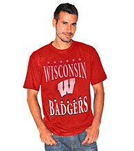 G-III Men's Red Wisconsin Exploded Logo Tee