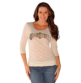 G-III Ladies' Red Ohio State Rolling Thunder Tee