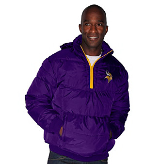 G III Men's Purple Minnesota Vikings Vertex 1/4-Zip Jacket