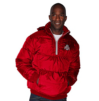 G III Men's Red Ohio State Vertex Quarter-Zip Jacket