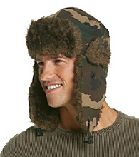 Ruff Hewn Men's Camouflage Faux Fur Trapper Hat