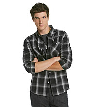 Mambo® Men's Black Plaid Long Sleeve Button Down Shirt