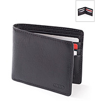 Lauren® Men's Black Oil-Milled Billfold Wallet