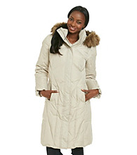 Calvin Klein Down-Blend Coat with Stitching