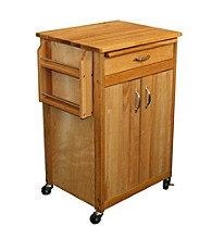Catskill Craftsmen Butcher Block Cart with Removable Cutting Board