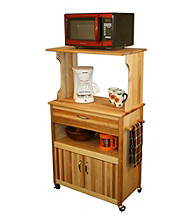 Catskill Craftsmen Microwave Cart with Storage