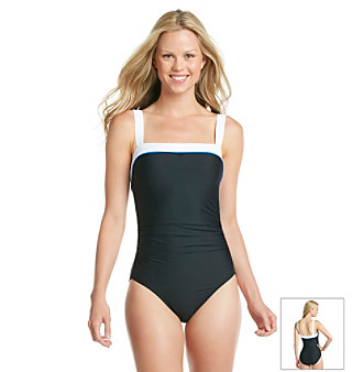 "Eco Swim® ""Eco Forever"" Shirred Banded One-Piece Swimsuit"