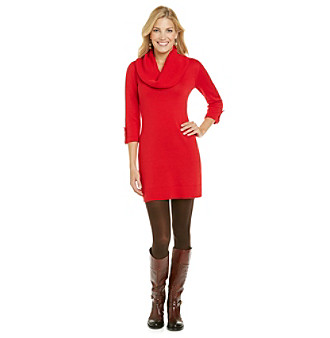 Relativity® Career Cowlneck Dress with Tabs