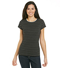 Relativity® Striped Crewneck Tee