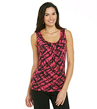 Relativity® Career Pleat Neck Tank