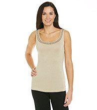 Relativity® Career Zig-Zag Embellished Tank