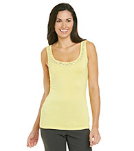 Relativity® Career Beads And Sequins Trim Tank