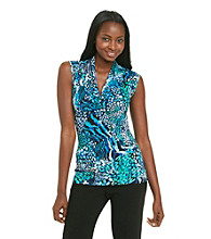 Relativity® Career Shawl Collar Sleeveless Top