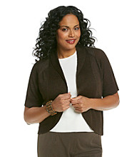 Relativity® Career Plus Size Shine Shrug