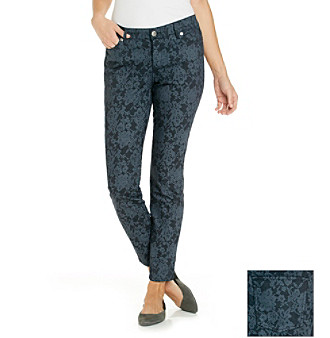 Nine West Vintage America Collection® Lace Print Matchstick Skinny Jean