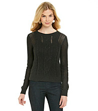Jeanne Pierre® Open-Stitch Cable Pullover