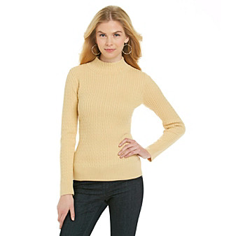 Jeanne Pierre® Baby Cable Mockneck Sweater