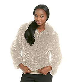 Fever™ Faux Fur Textured Jacket