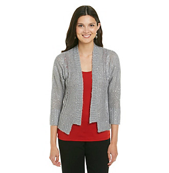 Fever™ Scattered Sequin Cardigan