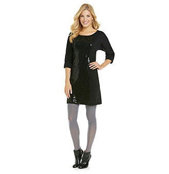 Fever™ Sequin Shine Sweater Dress