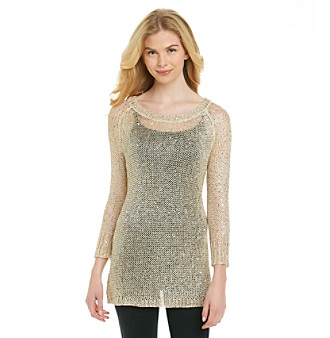 Chaudry® Open Stitch Shine Tunic