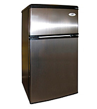 Sunpentown® 3.2-cu.ft. Stainless Steel Double Door Refrigerator with Energy Star