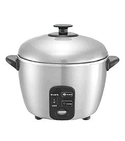 Sunpentown® 3-Cup Stainless Steel Rice Cooker / Steamer
