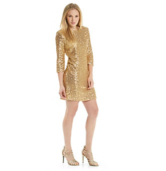 Anne Klein® Boatneck Sequin Dress