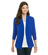 Laura Ashley® Ribbed Open Front Cardigan