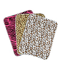 Trend Lab 3-pk. Flannel Burp Cloths - Animal Print