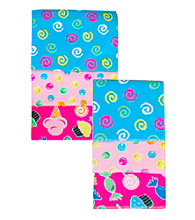 Trend Lab 3-pk. Flannel Blanket and Burp Set - Candy
